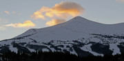 Snowy Evening Prints - Peak 8 at dusk - Breckenridge Colorado Print by Brendan Reals