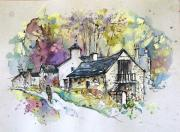 Art Miki Drawings - Peak District 09 b by Miki De Goodaboom