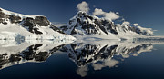 Snow-covered Landscape Prints - Peaks Along  Neumayer Channel Print by Colin Monteath