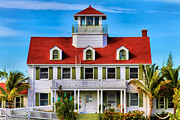 Clapboard House Prints - Peanut Island Print by Debra and Dave Vanderlaan