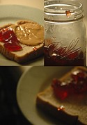 Sandwich Digital Art - Peanutbutter and Jelly Sandwich by Jennifer Holcombe