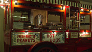 Hot Dogs Art - Peanuts and Hot Dogs Wagon by Douglas Barnett