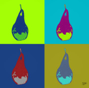 Popart Painting Prints - Pear 11 Print by Flo Ryan