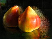 Orange Digital Art Originals - Pear Aura by Michael Durst