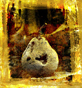 Indoor Digital Art Prints - Pear Print by Bernard Jaubert