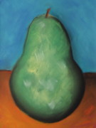 Vibrant Pastels Originals - Pear by Bridget Dixon
