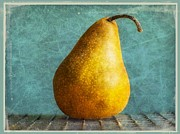 Food Photography Framed Prints - Pear Framed Print by Cathie Tyler