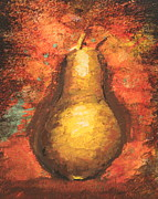 Sokolovich Painting Prints - Pear Center Print by Ann Sokolovich