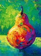 Vine Grapes Painting Posters - Pear II Poster by Marion Rose