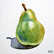 Watercolor By Irina Framed Prints - Pear Framed Print by Irina Sztukowski