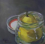 Kristine Kainer Paintings - Pear Jam by Kristine Kainer