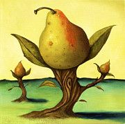Pear Tree Paintings - Pear Trees 2 by Leah Saulnier The Painting Maniac