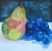 Still Life Paintings - Pearcial to Grapes by Jenny Armitage