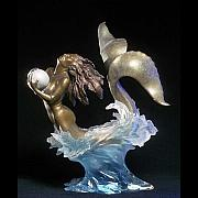 Extinct And Mythical Sculpture Originals - Pearl Diver by Jeff Hall
