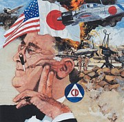 Franklin Roosevelt Paintings - Pearl Harbor by Chuck Hamrick