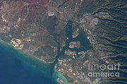 From Above Photos - Pearl Harbor, Hawaii by NASA/Science Source