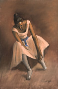Romantic Realism Pastels Prints - Pearl Joy Print by L Cooper