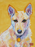 Heeler Paintings - Pearlene by Sarah Gayle Carter