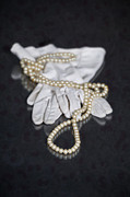 Jewellery Framed Prints - Pearls And Gloves Framed Print by Joana Kruse