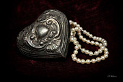 Pewter Prints - Pearls From The Heart Print by Christopher Holmes