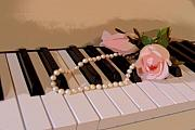 Jewelry Originals - Pearly Pink Keys by Florene Welebny
