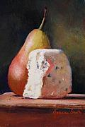 Old Masters Pastels Posters - Pears and Gorgonzola Poster by Jeanne Rosier Smith