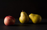 Still Image Prints - Pears And Peach Print by Catherine Lau