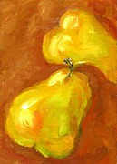 Food And Beverage Pastels - Pears Dance by Kat Griffin