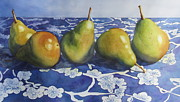 Flower Still Life Prints Prints - Pears Print by Daydre Hamilton