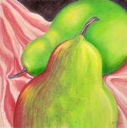 Pears Pastels Framed Prints - Pears for Laura Framed Print by Amy Tyler