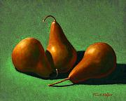Food And Beverage Painting Prints - Pears Print by Frank Wilson