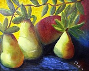 Mango Framed Prints - Pears in Sunshine Framed Print by Margaret Harmon