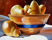 Ware Prints - Pears in Yelloware Print by Toni Grote