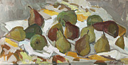 Still Life With Pears Framed Prints - Pears Framed Print by Juliya Zhukova