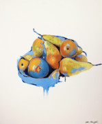 Lin Petershagen Prints - Pears Print by Lin Petershagen