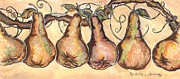 Concord Grapes Metal Prints - Pears of the Vine Metal Print by Kapal-Lou
