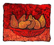 Food And Drink Art - Pears on Fire by Wayne Potrafka