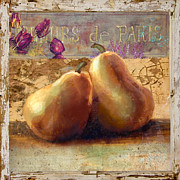 Pear Digital Art Posters - Pears Still Life Poster by Betty LaRue