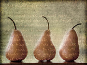 Brown Pears Framed Prints - Pears To Be Framed Print by Linde Townsend