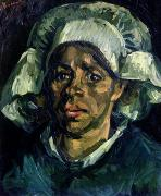 Face  Paintings - Peasant Woman by Vincent van Gogh