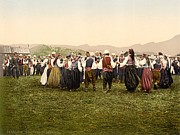 Slavic Art - Peasants Dancing, Bosnia by Everett