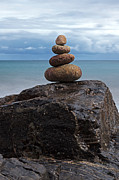 Seacape Metal Prints - Pebble sculpture Metal Print by Richard Thomas