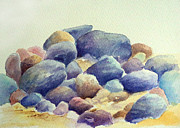 Rocks Paintings - Pebblescape by Merv Scoble