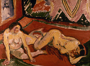 Fine Art  Of Women Paintings - Pechstein: Two Nudes, 1909 by Granger
