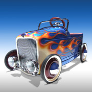 Wheels Digital Art Prints - Peddle Car Print by Mike McGlothlen