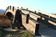 Wood Bridges Metal Prints - Pedestrian Bridge At Martinez Regional Shoreline Park in Martinez California . 7D10513 Metal Print by Wingsdomain Art and Photography