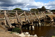 Wood Bridges Metal Prints - Pedestrian Bridge At Point Isabel In Richmond California . 7D15083 Metal Print by Wingsdomain Art and Photography