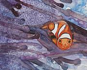 Clown Fish Originals - Peek A Boo Clown Fish by Tina Christiansen