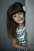 Little Girl Photos - Peek-a-boo by Matt Dobson