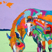 Foals Prints - Peek a Boo Print by Tracy Miller